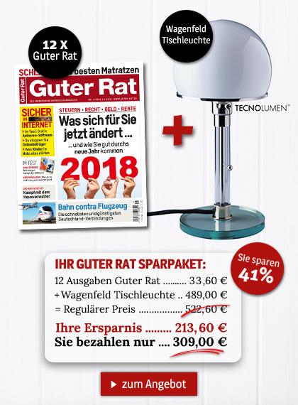 StickyAd Guter Rat - Sparpakete Wagenfeld Tischleuchte