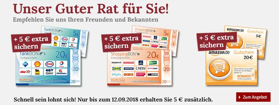 Guter Rat empfehlen + 5 € extra sichern!