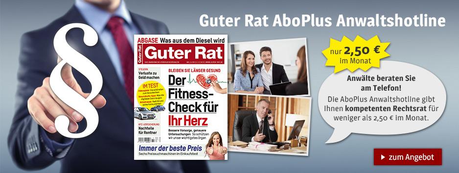 Guter Rat AboPlus Anwaltshotline