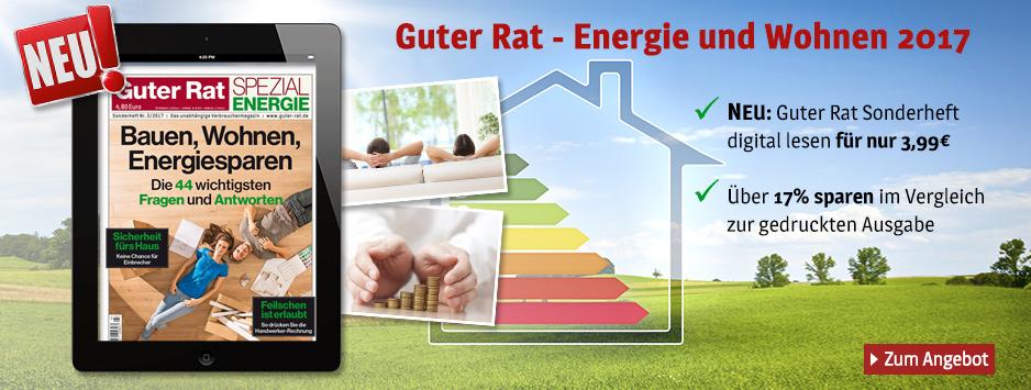 Guter Rat - Bauen, Wohnen, Energiesparen 2017