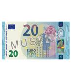 Verrechnungsscheck 20 €