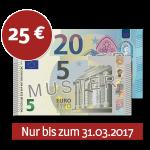 Verrechnungsscheck 25 €