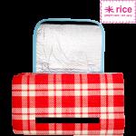 RICE Picknickdecke in Rot